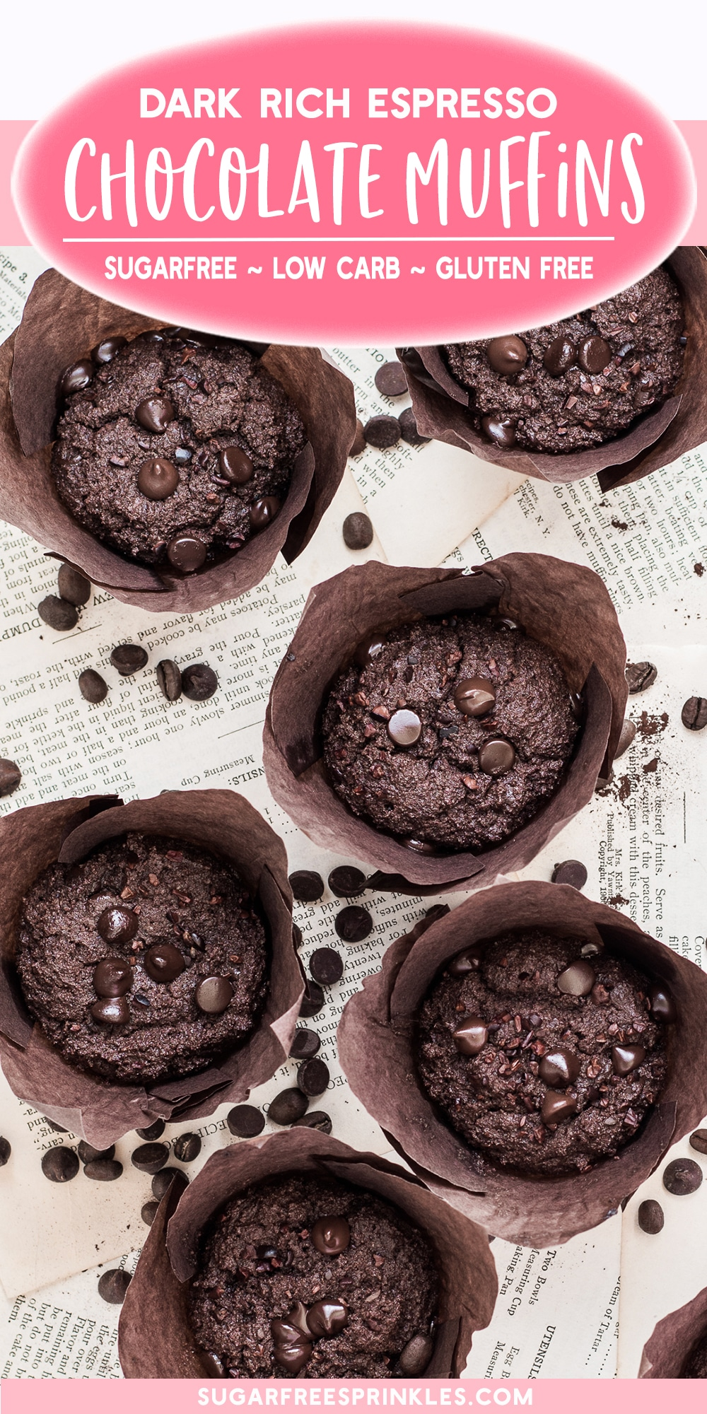 Epic triple chocolate muffins that are sugar-free, low carb, keto friendly and gluten free.  This low carb baking recipe makes for a great breakfast muffin.  Make them ahead of time and freeze them so you always have something for on the go or to crush that chocolate craving.