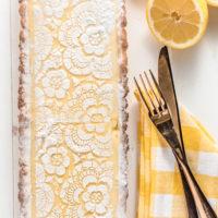 Lucious Lemon Cream Tart - It's So Good!  (Low Carb & Keto)