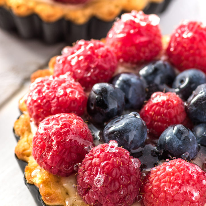 Fresh Fruit Custard Tarts Made Without Sugar (Low Carb & Gluten-Free)