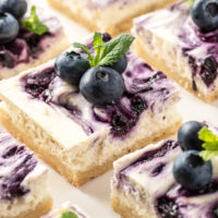 Gluten Free Blueberry Cheesecake Bars ( Low Carb & Keto Friendly)