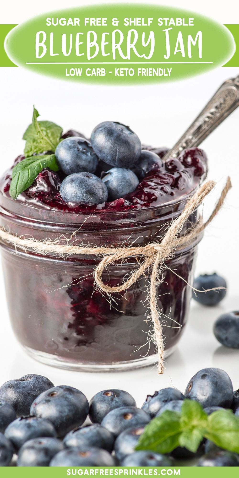 This keto-friendly blueberry jam is gooey, sticky and bursting with blueberry flavour. No weird textures or flavors either this jam really does taste like a traditional homemade jam made with sugar and fresh berries. This low carb jam is also shelf-stable for up to a year and is perfect for any gardeners with a surplus of fresh berries who want to make jam, but avoid excess sugars. A great little pantry item for all your low carb baking recipes too!