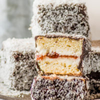 Gluten-free Lamingtons with Homemade Jam Filling (low carb too!)