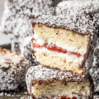 Gluten-free Lamington Recipe with Jam Filling (Low Carb Too!)