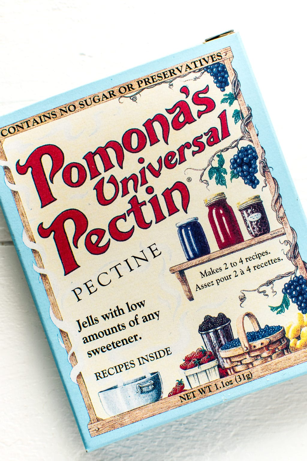 A box of Pomona's Universal Pectin on a white background