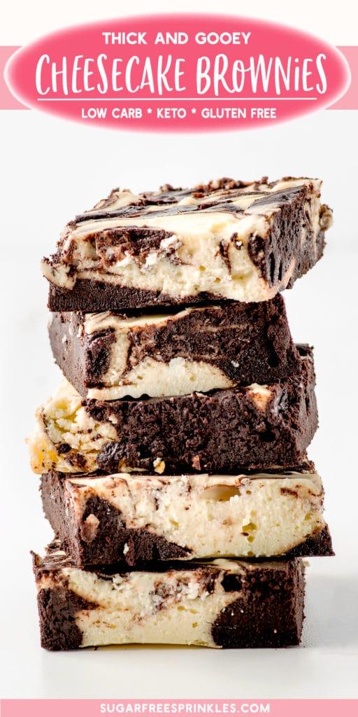 Gooey Keto Cheesecake Brownies Low Carb Gluten Free