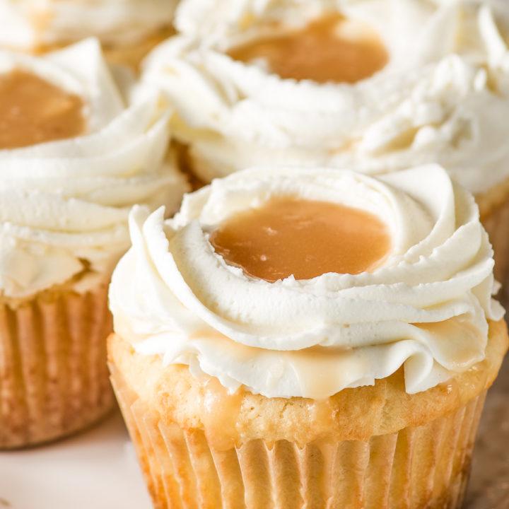 Salted Caramel Keto Cupcakes