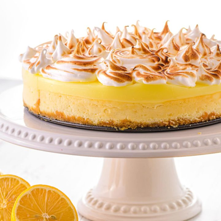 Keto Lemon Cheesecake with Lemon Curd Topping