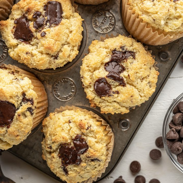 Low Carb Banana Muffins With Chocolate Chunks