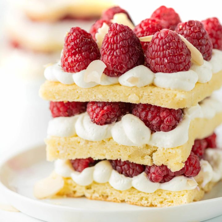 Low Carb Short Cakes with Raspberries and Almond Cream