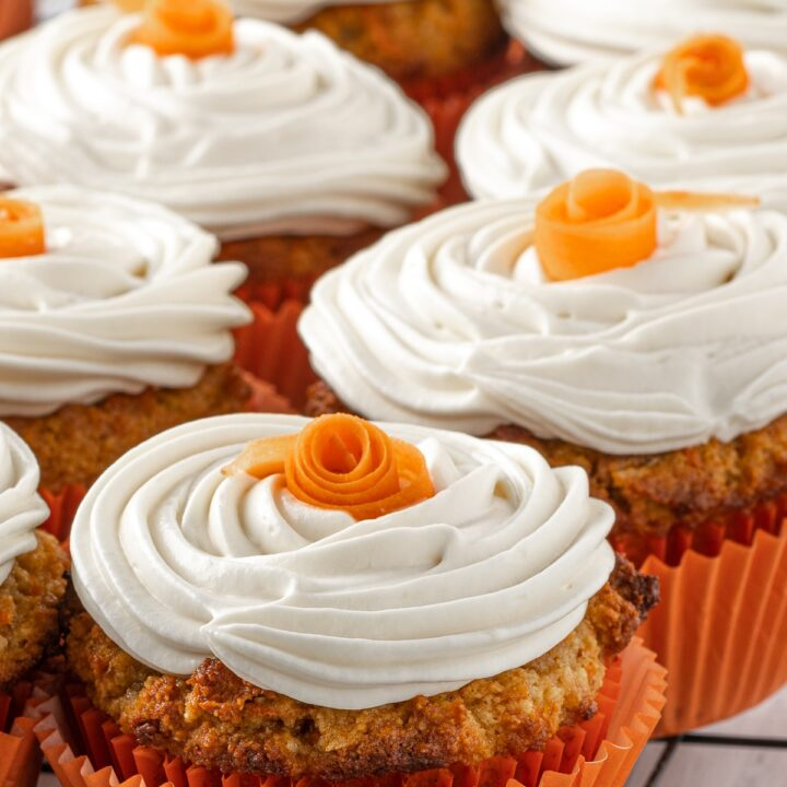 Low Carb Carrot Cake Muffins With Cream Cheese Frosting
