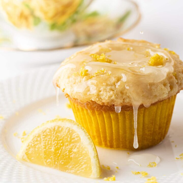 The Best Ever Glazed Lemon Keto Muffins